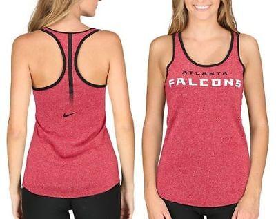 Atlanta Falcons Womens Nike NFL Fan Marled Tank Top Size M-L