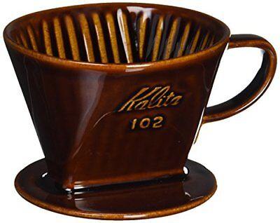 Kalita 102 Ceramic Coffee Dripper Hand Drip Tool (Brown) for 2-4 Cups JAPAN