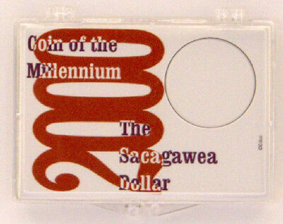 2000 Sacagawea - Millennium, 2X3 Snap Lock Coin Holders, 3 pack