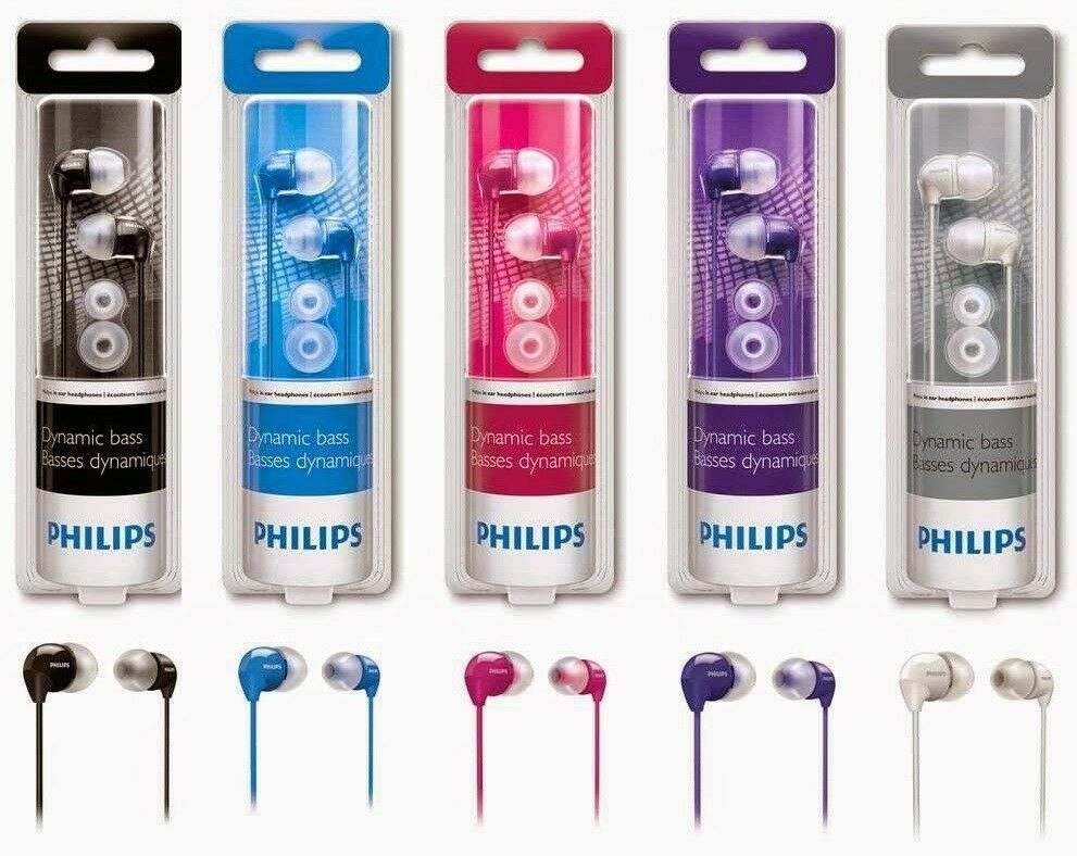 Headphones - Philips SHE3590 In-Ear Headphones - Assorted Colors (Brand New Sealed)