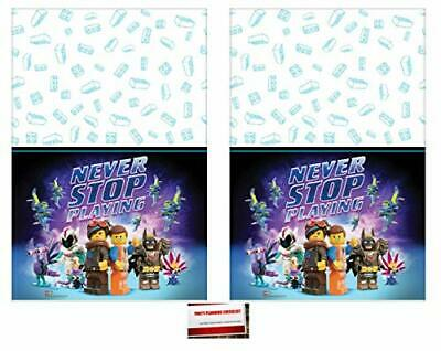 Lego Movie Part 2 Birthday Party Supplies Plastic Table Cover (2 Pack), 54 x 96