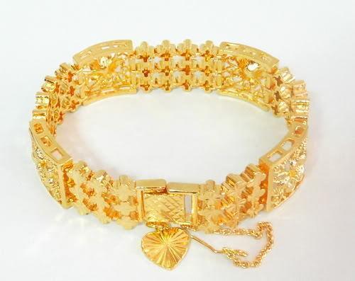 Italian Gold Chain >> 24K Gold Bangle | eBay