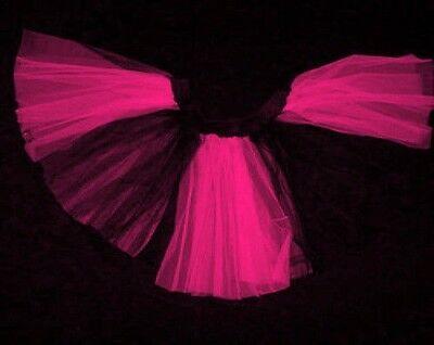 Plus Uv Hot Pink black stripe Tutu Skirt Dance Clubwear Neon Halloween Christmas](Hot Pink And Black Tutu)