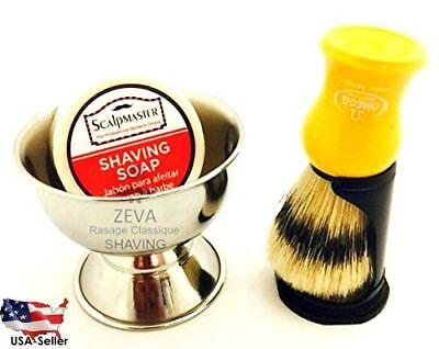 - Mens Shaving Kit Bowl and Soap Omega Pure Badger Hair Shaving Brush Gift Idea