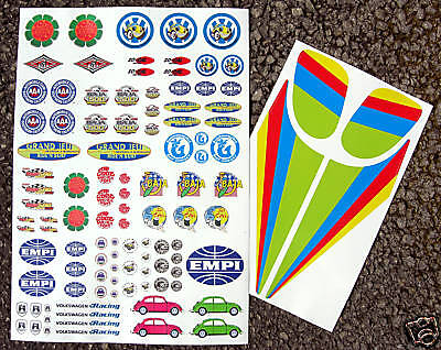 Tamiya Sand Scorcher VW Beetle surf baja style stickers