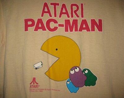 Atari Pac-Man 1982 T Shirt VINTAGE SIZE S see measurements