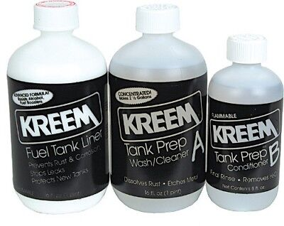kreem Fuel Gas Tank Liner Sealer Motorcycle ATV Rust Coating prep Seal Kit 1210