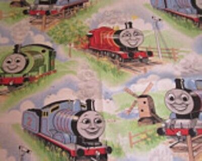 Thomas the Tank Engine Pastel Curtains (2 Panels) - New - Discontinued