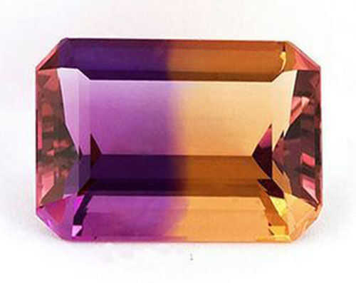 7.52cts Ravishing Color Vvs Purple Golden Bicolor Ametrine Loose Gemstone