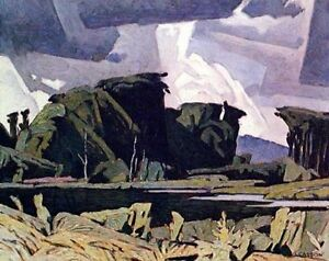 "A.J. Casson ""Bancroft"" Lithograph - Appraised at $700"