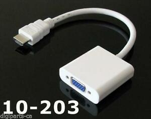HDMI Male to VGA Female Video Cable Cord Converter Adapter 1080P