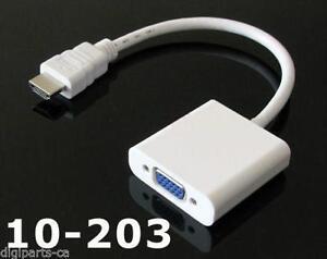 HDMI Male to VGA Female Video Cable Cord Converter Adapter 1080P