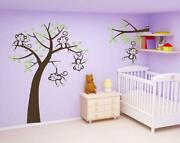 Monkey Tree Wall Stickers