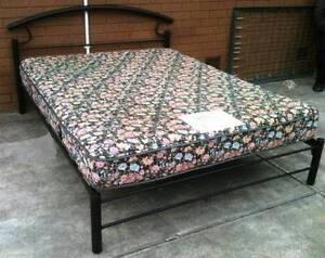 metal frame timber slats queen bed with mattress Glen Waverley Monash Area Preview