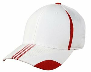 Adidas-Pro-Shape-Stretch-Fit-Climalite-Flex-Fit-Hat-Cap-White-Red