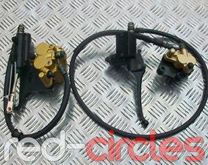 CHINESE PIT DIRT BIKE BRAKE CALIPERS PADS HOSES 50cc 125cc 110cc 140cc PITBIKE