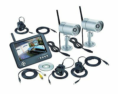 Heavy Duty Outdoor WIFI CCTV Recordable IR Night Camera & Monitor Set System Kit