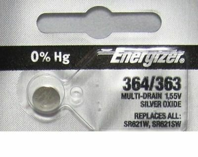 1 X PC Fresh ENERGIZER Silver Oxide WATCH Battery 1.55v CR 364 363 SR621 (1.55v Silver Oxide Battery)