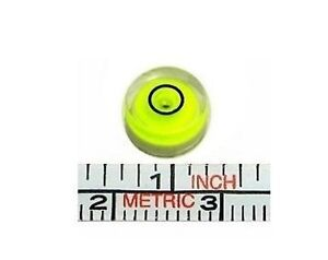 One 8mm Diameter Disc Bubble Spirit Level Round Circle Circular NEW