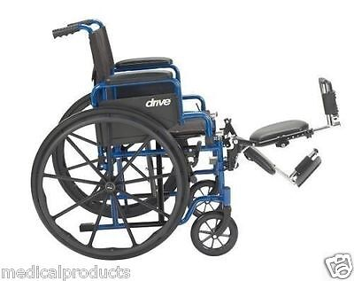 LIGHTWEIGHT FOLDING WHEELCHAIR WITH ELEVATING LEGREST BY DRIVE MEDICAL