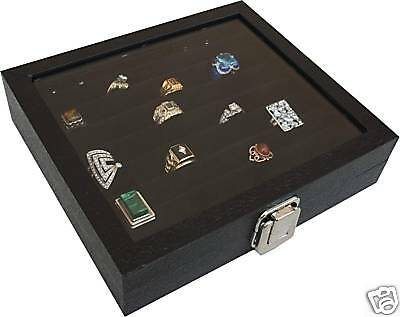 36 Ring Box Ring Case Jewelry Storage Display Organizer New
