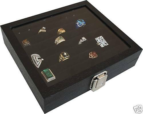 36 RING BOX RING CASE JEWELRY storage display ORGANIZER New