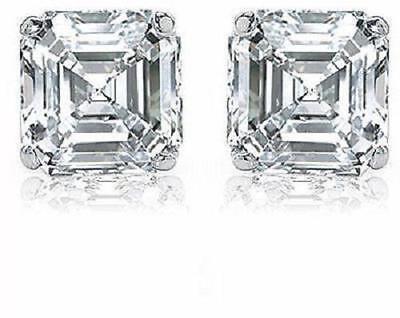 2.40 carat Asscher Cut Diamond Platinum Studs Earrings, G VS1 GIA certificate