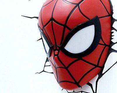 Dekorative Wand LED Lampe Marvel Spiderman 3D Licht für Kinder Zimmer Avengers