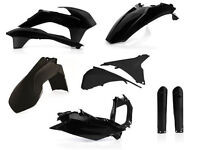 New 2016 Full Plastic Kit KTM EXC EXC-F 125 200 250 350 450 14-16 Enduro Black