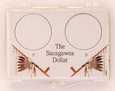 Sacagawea Dollar P & D, 2X3 Snap Lock Coin Holders, 3 pack