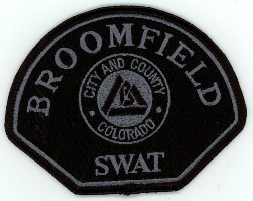 BROOMFIELD POLICE COLORADO CO SWAT SUBDUED TACTICAL PATCH SHERIFF