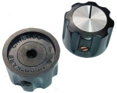Octagonal Instrument Control Indicator Knobs Black Plastic Daka-Ware (4 pieces)