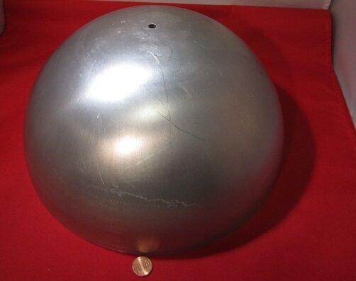 "Aluminum Half Sphere / Balls 10.00"" Diameter x 5.00 Height, 1 Piece"