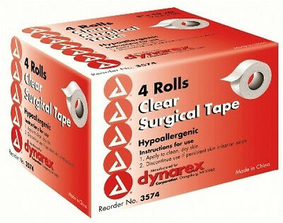 4 Transparent Surgical Tape Rolls 3