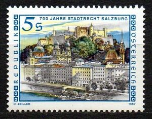 "Austria - 1987 700 years city rights Salzburg Mi. 1879 MNH - Enschede, Nederland - Austria - 1987 700 years city rights Salzburg Mi. 1879 MNH Click the button below to view more Austria lots from our extensive offerings. After clicking select ""Austria"" in the blue side-bar on the left. Our lots start at just €0,2 - Enschede, Nederland"