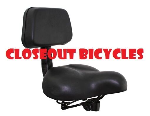 Bicycle Tricycle Cruiser Saddle Seat PU Cushion Pad With Bac