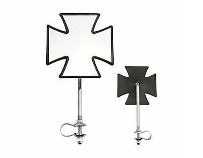 PAIR OF CHROME IRON CROSS  ALL METAL BICYCLE MIRROR LOWRIDER  BEACH CRUISER BIKE