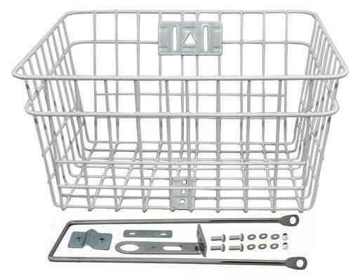 ORIGINAL! Bicycle Bike Steel Wire Basket W/Braces 333D WHITE