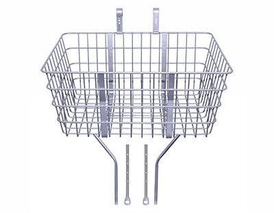 "New! Bike Steel Wire Basket W/Adjustable Braces Fit 20"" to 2"
