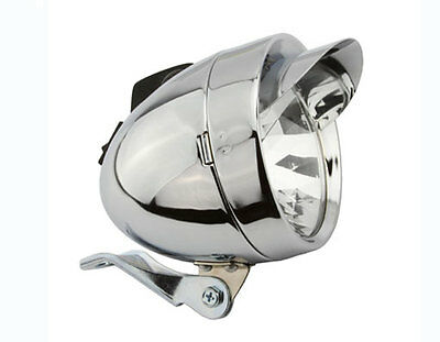 Retrospec Bicycles LED Vintage Bullet Headlight with Chrome Accent