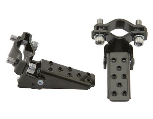 Bicycle Steel BLACK Foldable Folding Fork Foot Step Pegs BMX Bike