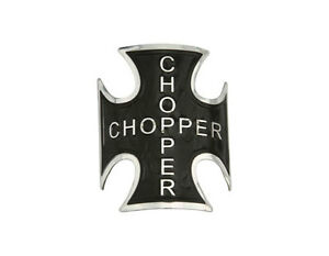 BICYCLE-NAME-PLATE-HEAD-BADGE-IRON-CROSS-BLACK