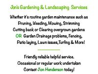 Jon's Gardening & Landscaping Services.