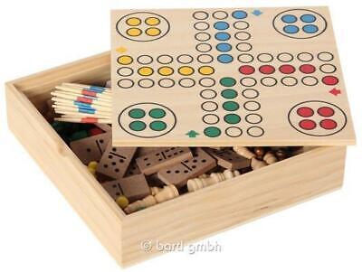 Bartl 111459 - Spielesammlung klein 6 Spiele - Schach Dame Ludo Domino Mikado