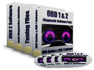 Professional OBD 1 & 2 II Diagnostic Software ECU Remapping PC CD