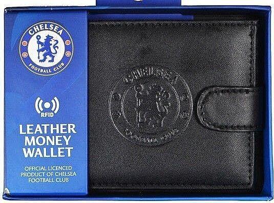 Chelsea FC Rfid Echtleder Fußball Sport Geldbeutel Geldbörse CFC Boxed Geschenk