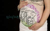 Unique Belly Painting with Photography. HALF PRICE SESSIONS NOW