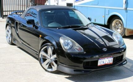 2000 Toyota Mr2 ZZW30R Spyder Black 5 Speed Sequential Manual Convertible Cannington Canning Area Preview