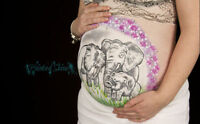 Affordable Maternity Photography and Unique Belly Painting
