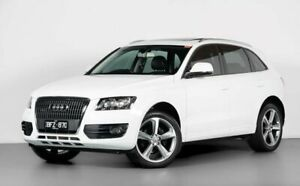 2010 Audi Q5 8R MY10 TDI S Tronic Quattro White 7 Speed Sports Automatic Dual Clutch Wagon Port Melbourne Port Phillip Preview